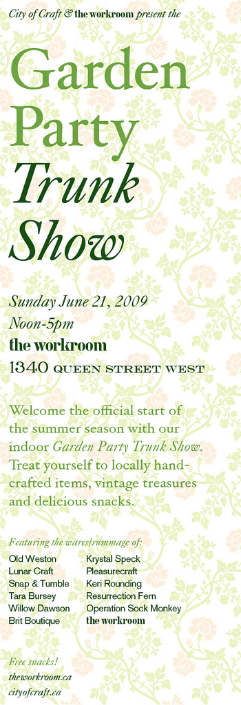 the workroom Garden Party Trunk Show