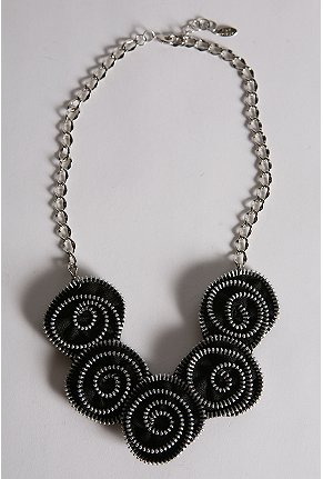 Urban Outfitters zipper flower necklace $68USD