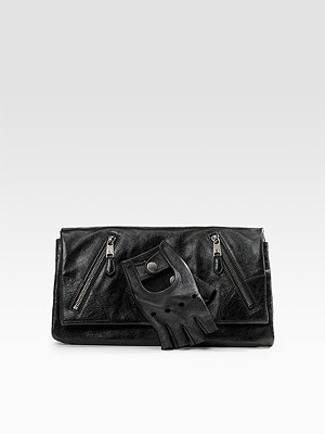 Alexander McQueen Faithful leather glove clutch $1083.59CAD at Saks.com