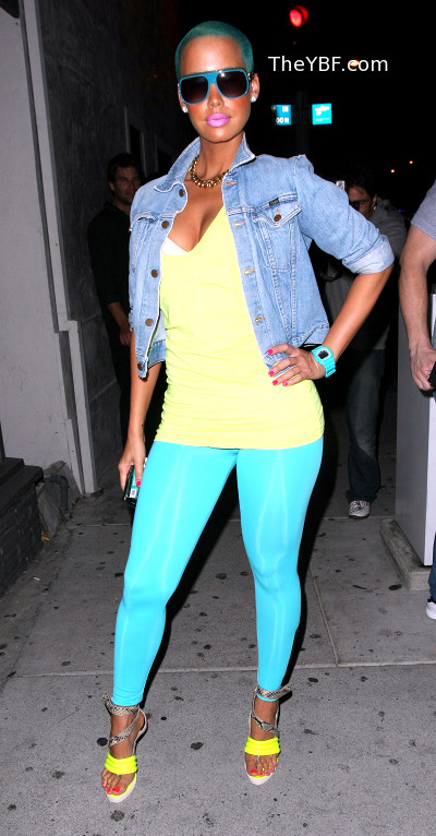pictures of amber rose with hair. So Kanye#39;s girl Amber Rose