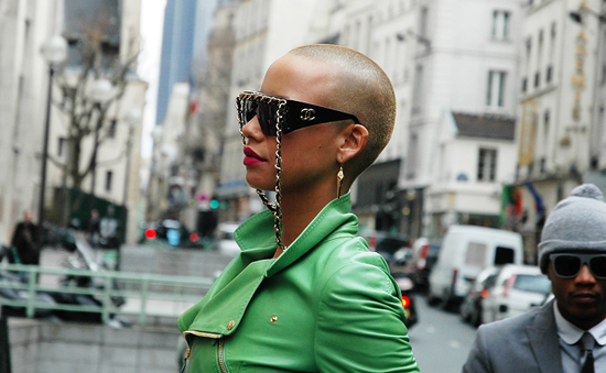 Amber Rose in vintage Chanel sunglasses