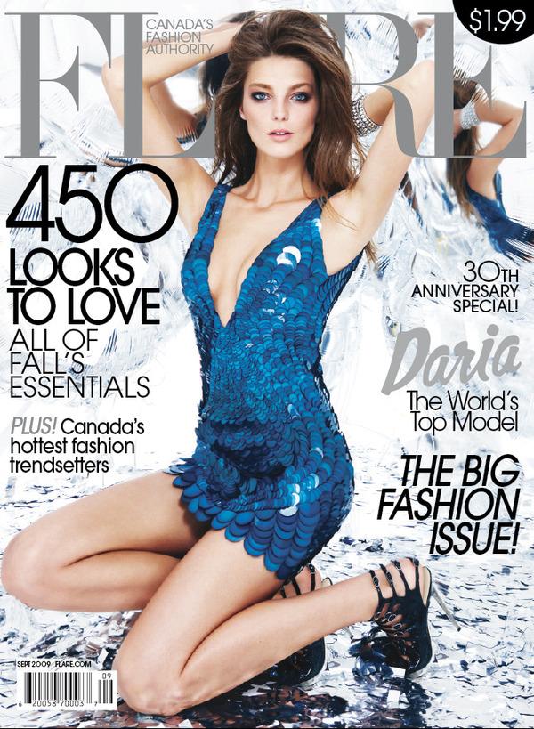 September Cover of Flare magazine