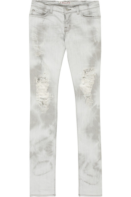 J Brand bleached ripped jeans $220USD at Net-A-Porter