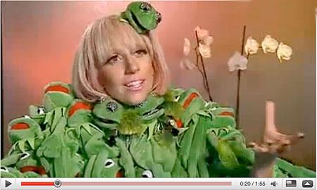 Lady Gaga Kermit the Frog