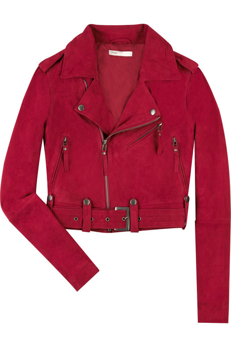 Maje Gill suede biker jacket $380USD at Net-A-Porter