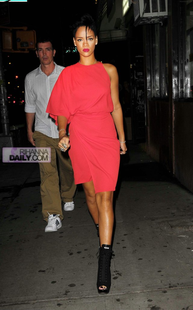 Rihanna on her way out to dinner at Emilio's Ballato restaurant yesterday night in New York City.