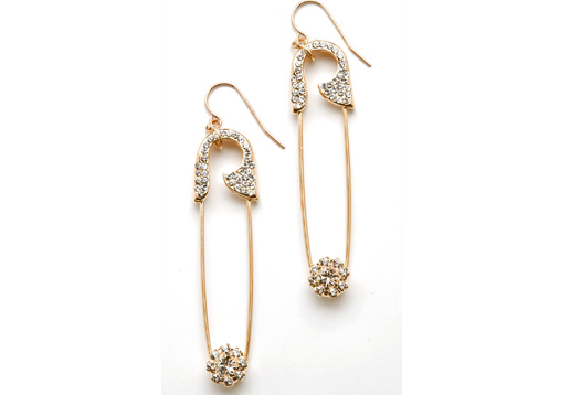 Safety Pin Earrings $125.00USD