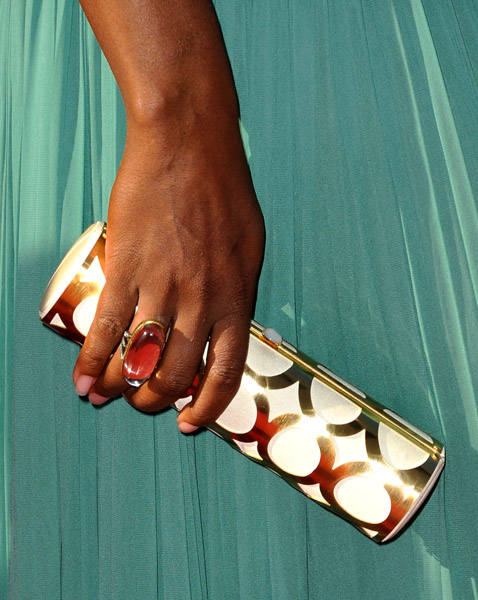 Serena Williams clutch and ring