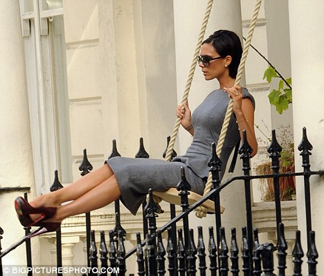 Victoria Beckham at a photo shoot for her latest advertising campaign