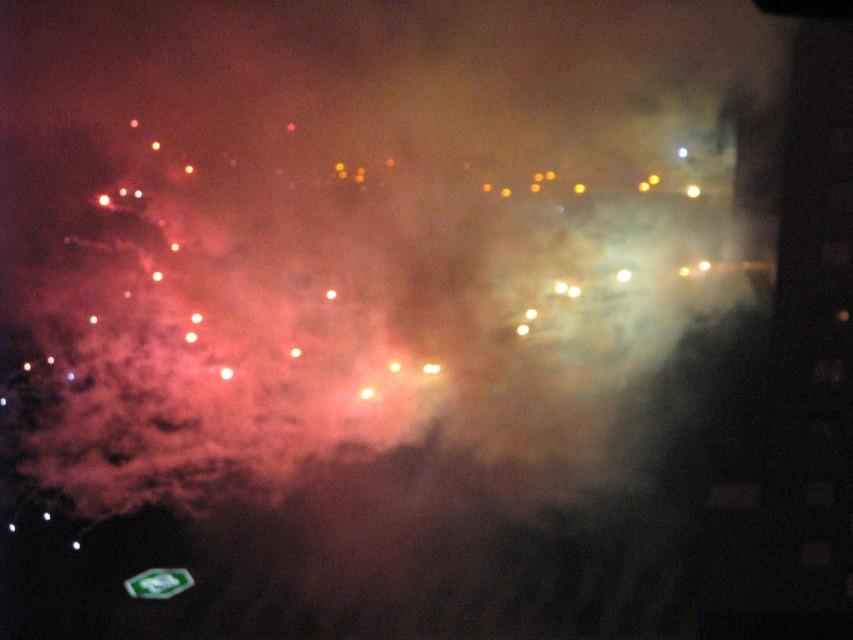 Fireworks at the Stevie Wonder concert