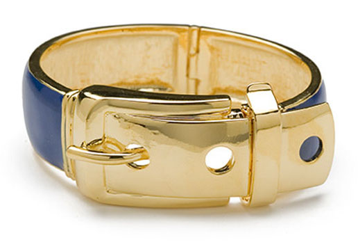 Wide Enamel Buckle Bracelet $195.00USD