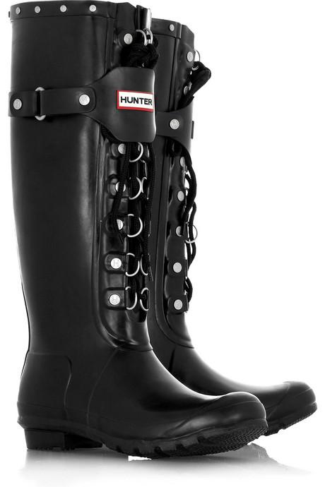 Hunter Douglas Festival lace-up Wellington boots