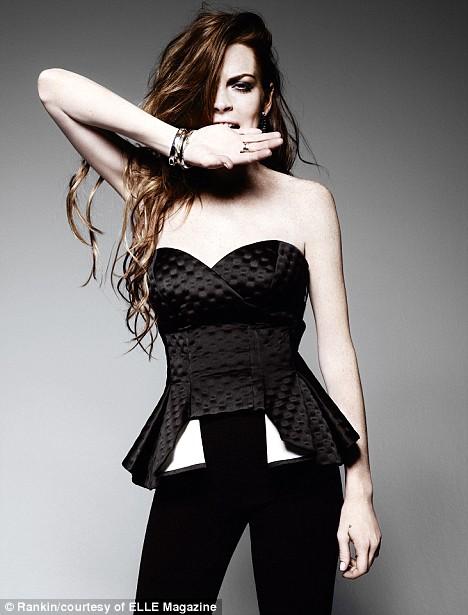 Lindsay Lohan for Elle