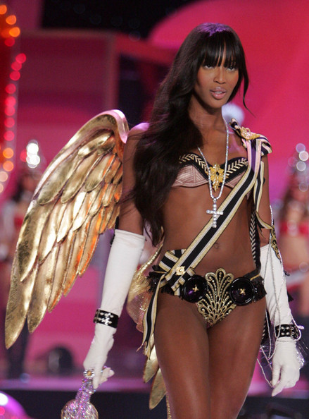 Naomi Campbell at the last Victoria's Secret Fashion Show held in New York on November 9, 2005