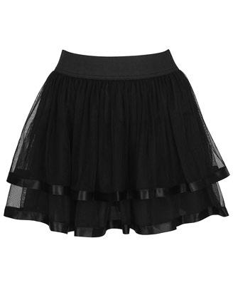 Forever 21 satin mesh skirt