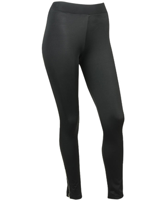 Zipper Ankle Sheen Leggings $21.80CAD