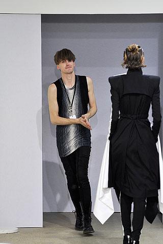 Gareth Pugh at his Spring Summer 2009 fashion show