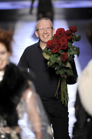 Jean Paul Gaultier at his Fall 2009 fashion show.