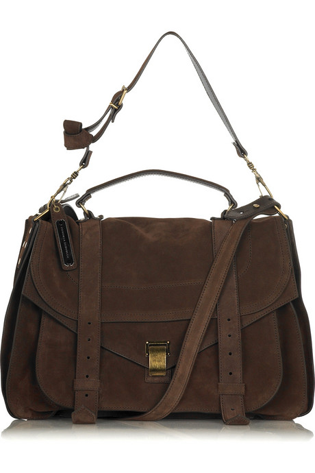 Proenza Schouler PS1 extra-large suede satchel