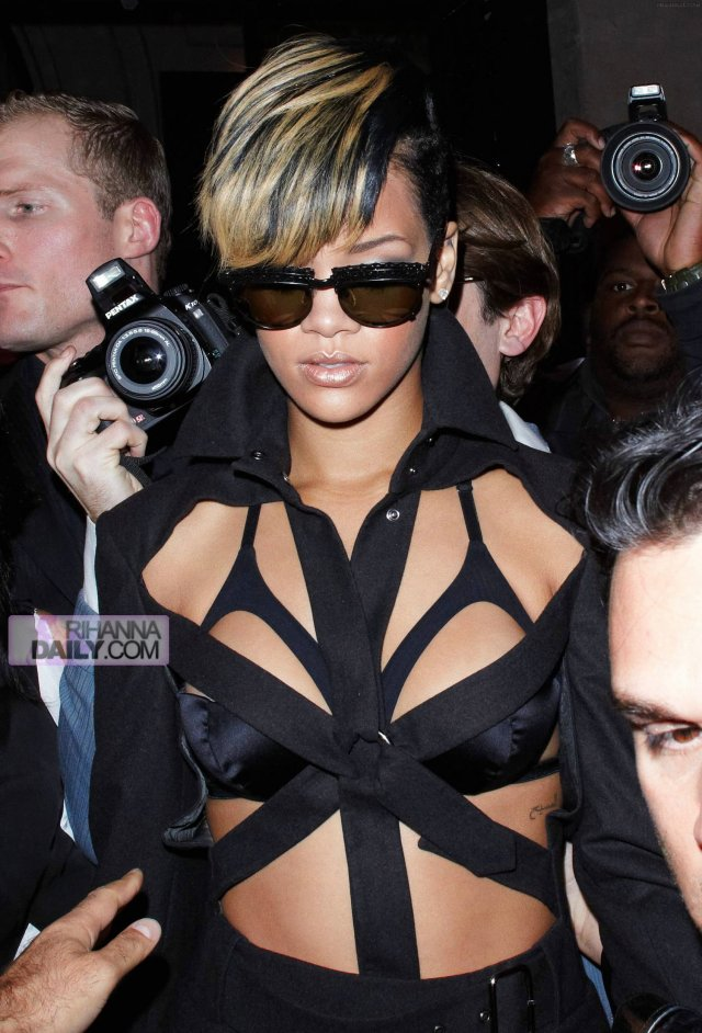 Rihanna on her way to the Jean Paul Gaultier fashion show