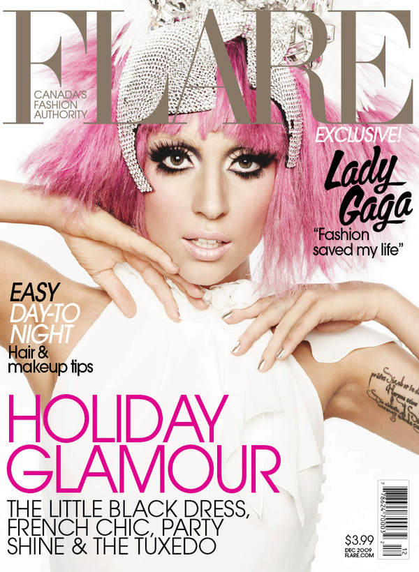 Lady Gaga on the cover of Flare Magazine