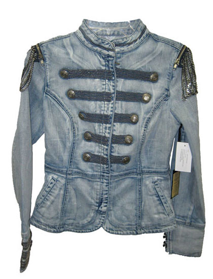 Guess denim military-style jacket, $178USD