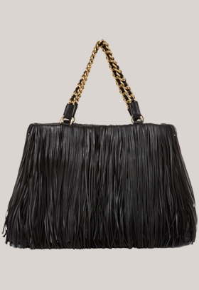 Trussardi 1911 fringed chain strap bag