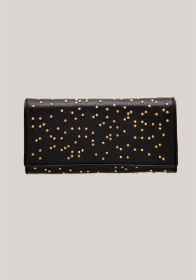 Trussardi 1911 medium studded wallet