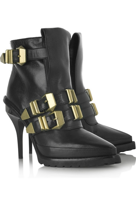 Alexander Wang buckled leather ankle boots