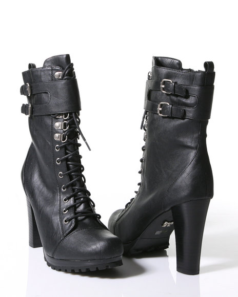 Dollhouse Rogeri lace-up boots