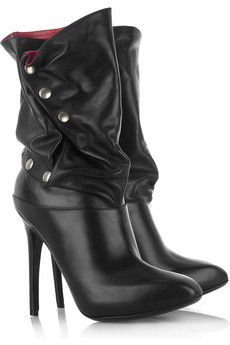 Alexander McQueen Slouchy leather calf boots