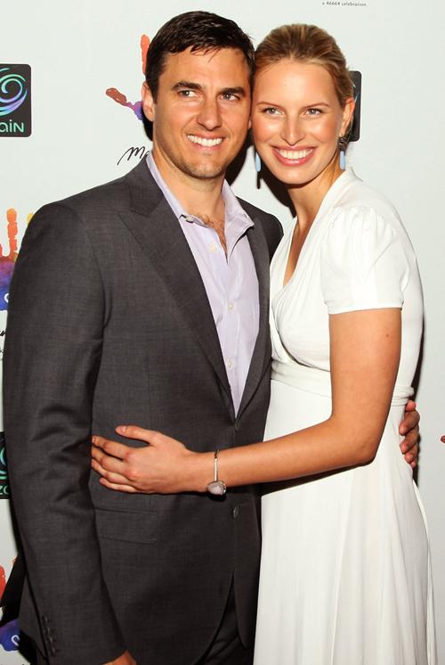 Karolina Kurkova and her fiance Archie Drury