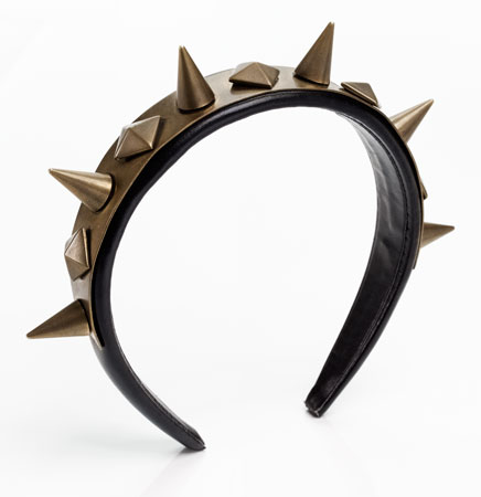 Givenchy by Riccardo Tisci Leather and Metal Studded Hairband
