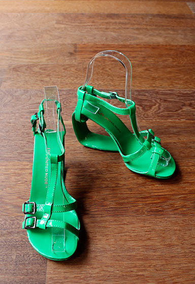 United Nude Mobius Strappy Hi in green US$245